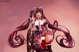 Image 3 - Japanse Anime 1/7 Schaal Sexy Meisje Inheemse Nekopara Chocola & Vanille Stoel Ver. Pvc Action Figure Staande Collection Model 24Cm