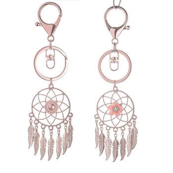 2 Pack Metal Keychain Dreamcatcher Keychain Bag Decorations фото