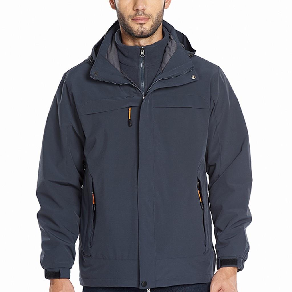 Veste d'hiver hommes coupe-vent à capuche veste imperméable à l'eau séchage rapide respirant Sport extérieur manteaux Softshell veste hommes Mujer
