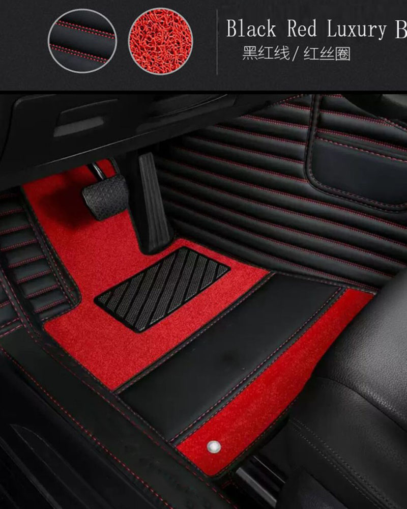 Car floor mats with Logo/Brand Logo for Audi A3 S3 foot case heavy duty all weather protection 5D car-styling carpet rugs liners