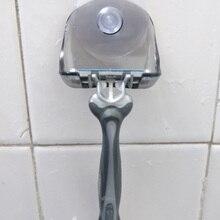 Пластиковая подвесная стойка для бритвы, прозрачная полка для хранения, присоска, держатель для бритвы, органайзер, Товары для ванной комна...