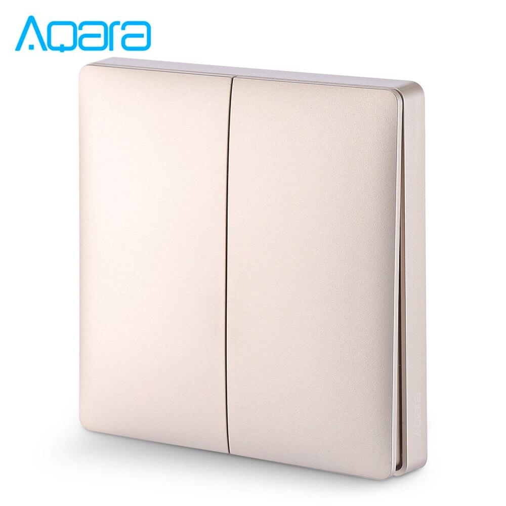 Wall Intelligent Linkage Light Control Home Switch Panel Zero Fire Double Key Version