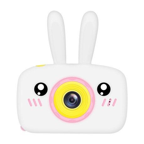 Мультяшная цифровая камера, детские игрушки, креативная развивающая игрушка для детей, аксессуары для обучения фотографии, подарки на день рождения, детские товары - Цвет: White bunny