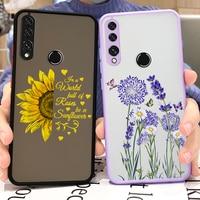 Funda para Huawei Y9 Prime 2019, carcasa de teléfono transparente mate dura con flores de colores para Huawei Y 9 Y9 Prime 2019, carcasa trasera parachoques