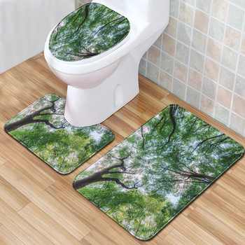 Sonic the Hedgehog 3pcs Bath Mats Set Non-slip Bathroom Rug Home Decor 50*80cm