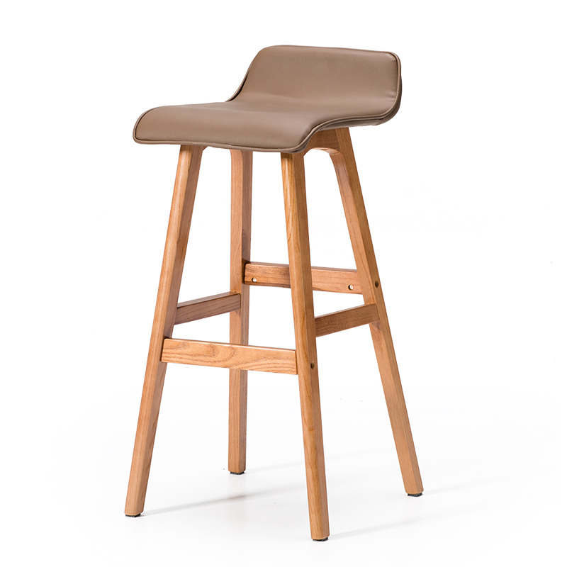 Solid Wood Bar Chair Creative Bar Chair European Bar Stool Bar Chair Simple Retro Bar Stool High Stool