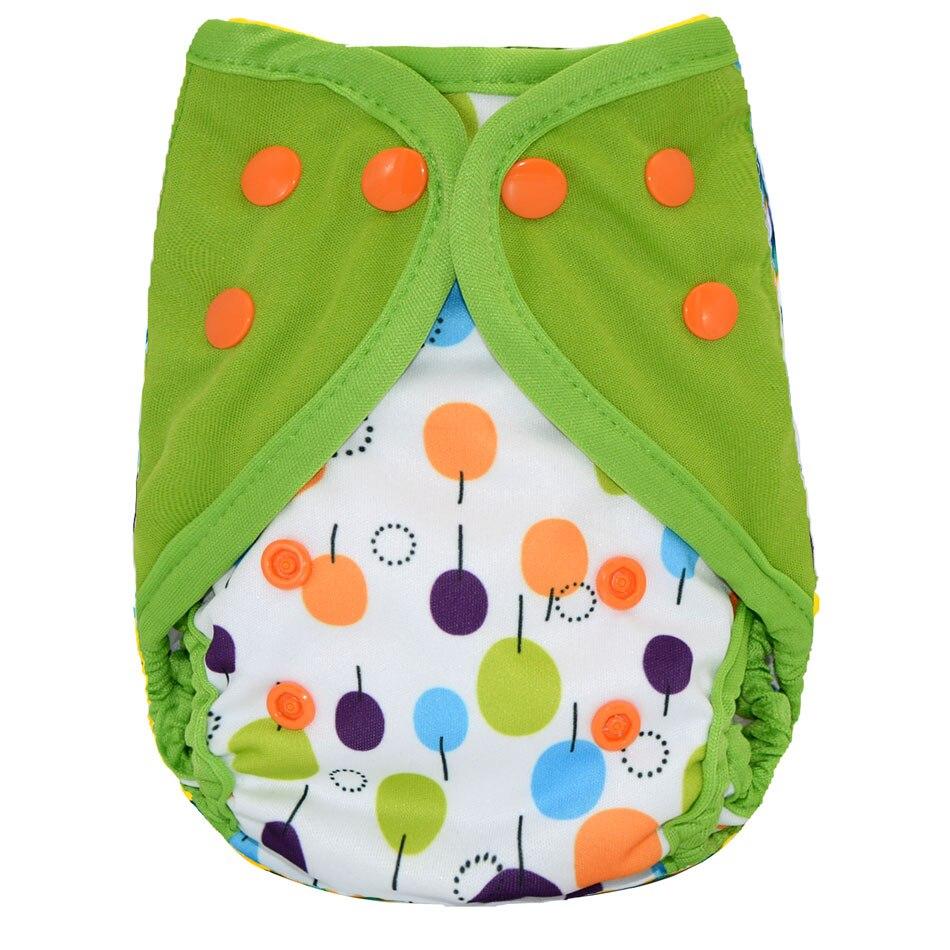 Happy Flute NB/S Чехол для подгузников, двойные протекторы, водонепроницаемый и дышащий, подходит для детей 3-6 месяцев или 6-19 фунтов - Цвет: EF06