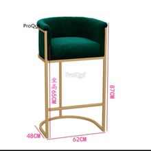 Prodgf 1Pcs A Set seat height 65cm Nordic Bar Chair