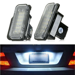 Led-Light-Lamps License-Plate R171 W219 Mercedes-Benz New White 2PCS for W203 W211