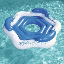 Надувной матрас для плавания, водный матрас, надувной матрас, надувной плавающий остров, матрас для плавания, морская кровать