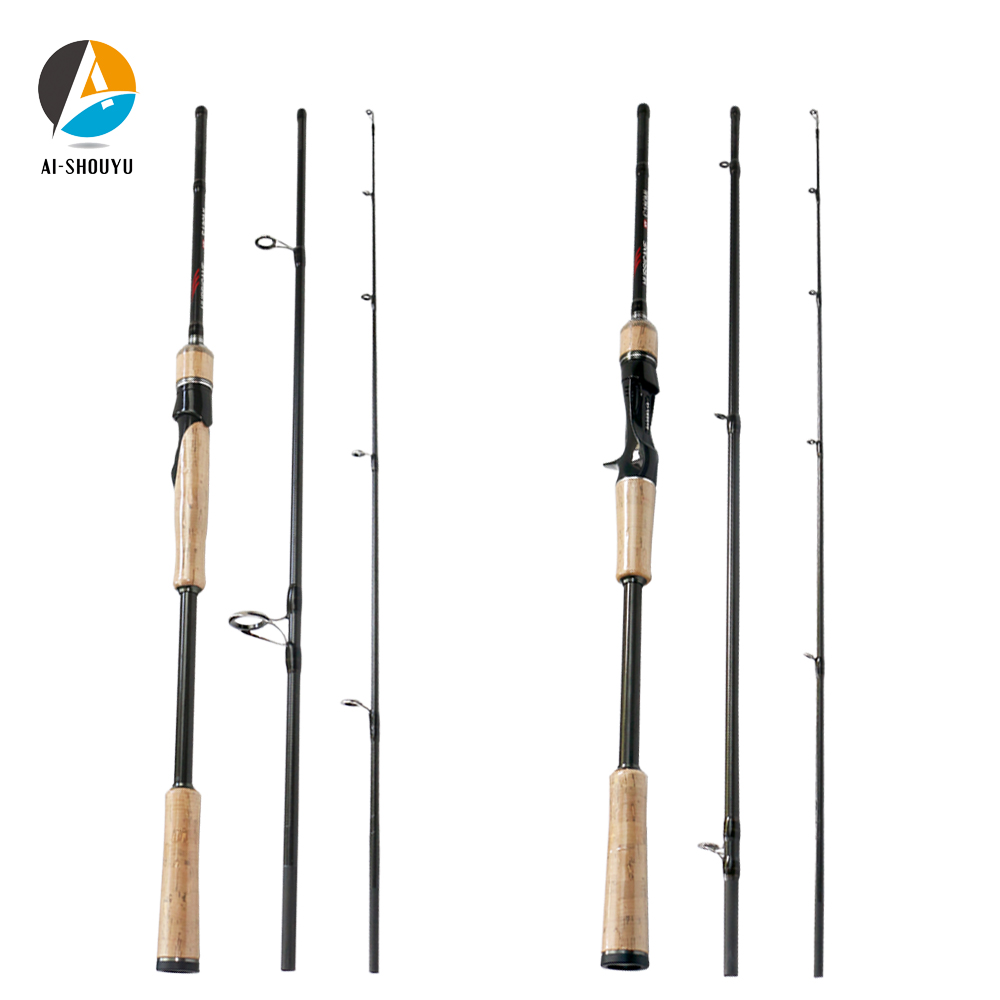 1.8m 2.1m 2.4m 2.7m 3 Section Baitcasting Fishing Rod Trout Travel Rod Ultralight Spinning Lure Rod 5g 20g M/ML/MH Rod 10 15lb Fishing Rods     - title=