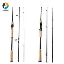 1.8m 2.1m 2.4m 2.7m 3 Section Baitcasting Fishing Rod Trout Travel Ultralight Spinning Lure 5g-20g M/ML/MH 10-15lb