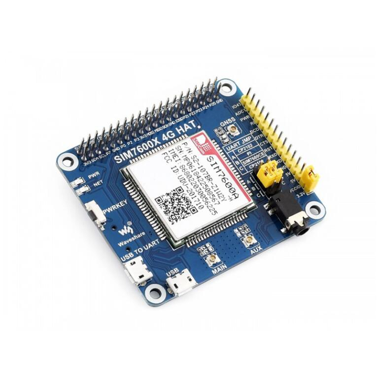 SIM7600A-H 4G HAT Based On SIM7600A-H 4G/3G/GNSS HAT For Raspberry Pi LTE CAT4, For North America Pretty Low Power Consumption