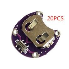20 قطعة جديد عالية الجودة LilyPad عملة خلية البطارية حامل CR2032 بطارية جبل وحدة LilyPad عملة خلية البطارية حامل