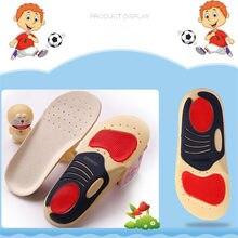 Palmilhas ortopédicas para crianças, palmilhas respiráveis de suporte de arco, fibra de soja, pés, cuidados com os pés, 1 par