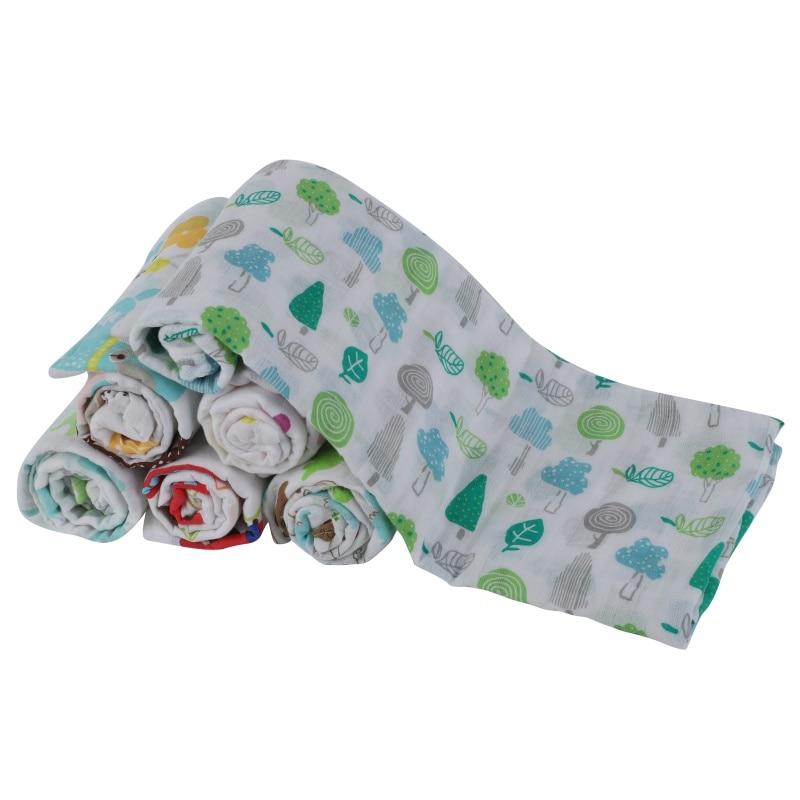Multi-use Baby Blankets Swaddling Newborn Swaddle Muslin Infant Sleepsack Stroller Cover Muslin Cotton Baby Swaddle
