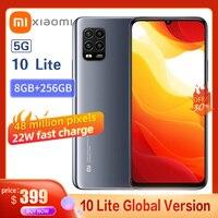 Globale Version Xiaomi Mi 10 Lite Smartphone Snapdragon 765 Acht Core AMOLED Voll Bildschirm 48MP Pixel 22W Mit NFC 5G Handy