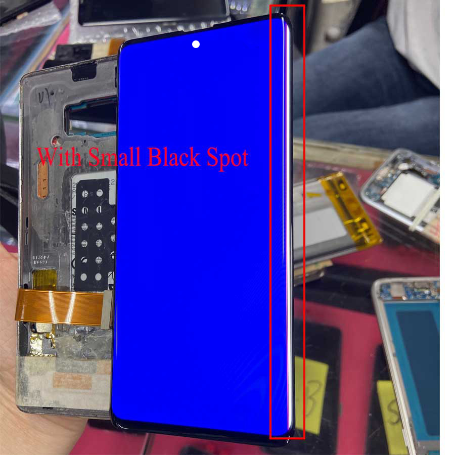 For Samsung Note 10 LCD Display Touch Note10+ LCD For Samsung Note 10 Plus LCD Band Line Display Mobile Phone Defective Screen