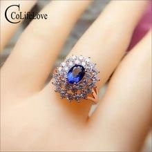 Ювелирные изделия colife 100% натуральный циркониевый кольцо