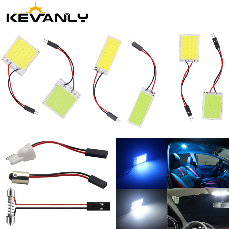 W5W LED T10 C5W BA9S H21W 24 36 48SMD Car Led Vehicle Panel Lamp Auto Interior Reading Lamp Bulb Light Dome Festoon light DC 12V title=