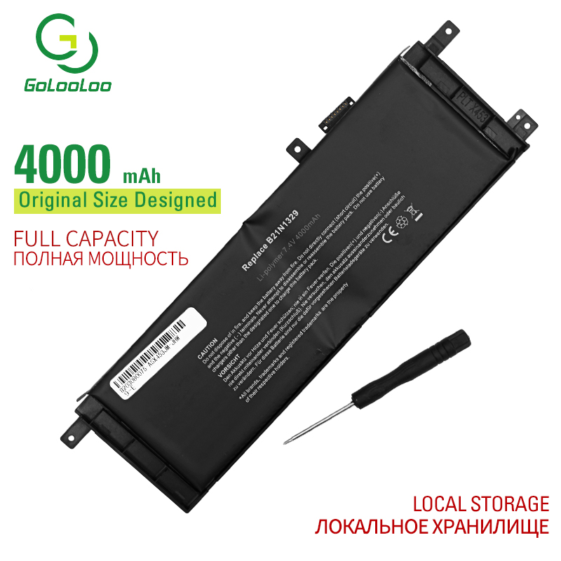 Golooloo 7.4v 4000mAh B21N1329 Laptop Battery For ASUS D553M F453 F453MA F553M P553 P553MA X453 X453MA X553 X553M X553B X553MA