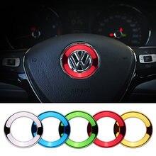 Car Steering Wheel Logo Circle Trim Sticker for Volkswagen VW Golf 4 5 Polo Jetta Mk6 Tiguan Passat Accessories