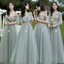 Платья подружек невесты сказочного зеленого цвета с золотым