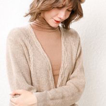 LHZSYY 2019 Autumn Winter New Womens Knit Cardigan Leisure Outside Loose Long Solid Color Long-Sleeved Soft Coat Sweater Female