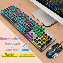 Gaming keyboard and Mouse Wired keyboard with backlight keyboard Gamer kit  Silent Gaming Mouse Set For PC Laptop backlight game keyboard and mouse suit wired gaming keyboard and mouse combo 104 kyes gaming keyboard with wired 6d mouse kx04