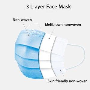 Image 2 - 10/90 Pcs masques de protection jetables 3 couches tissu soufflé à létat fondu respirant masque Anti poussière de protection masque