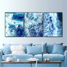 Laeacco Canvas Painting Sea Wave Scenery Wall Art Nordic Posters and Prints Home Living Room Wall Decoration Pictures Home Decor laeacco sea marine fish sunshine posters and prints canvas painting wall art picture home decor living room decoration