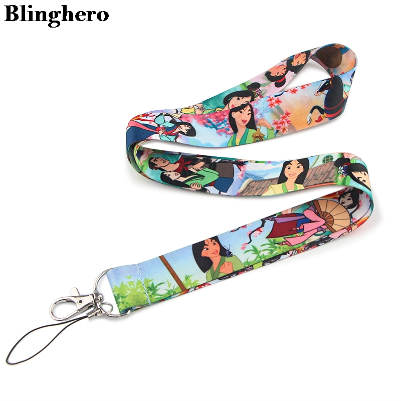 Blinghero Girls Anime Cartoon Neck Strap Lanyards For Keys ID Card Gym Mobile Phone Straps Badge Holder DIY Hang Rope ZC0153