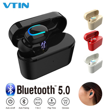 VTIN Wireless Bluetooth Earphone Ultra Small Invisible Earphone Stereo Single Earbud with Mic Charging Box For iPhone Xiaomi factory price binmer mini 7 ultra small v4 1 stereo bluetooth headset earphone earbud for iphone drop shipping good quality