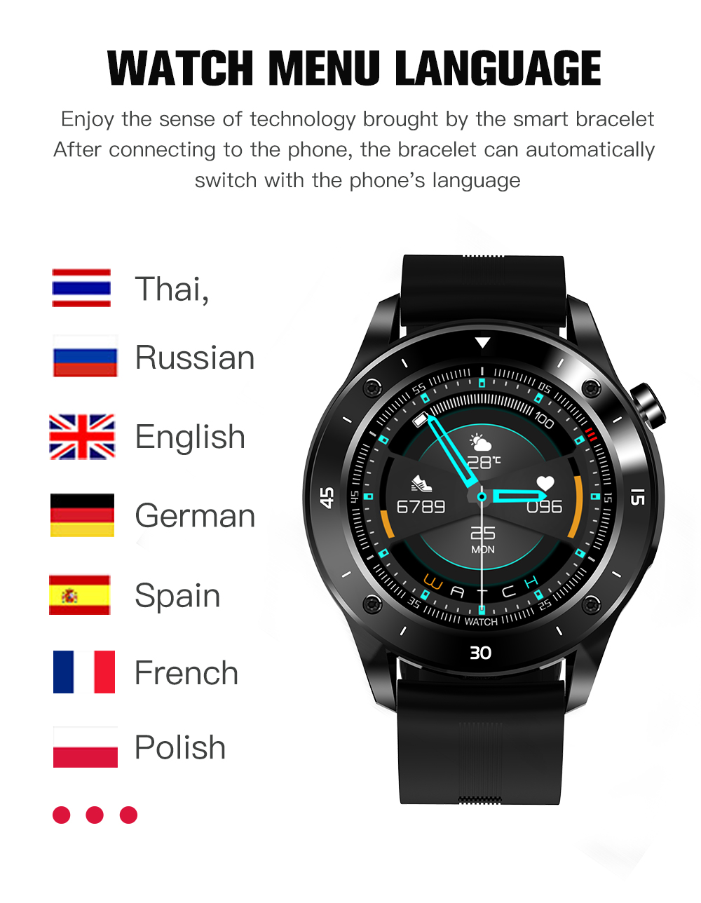 CZJW F22S Sport Smart Watches for man woman 2020 gift intelligent smartwatch fitness tracker bracelet blood pressure android ios 3
