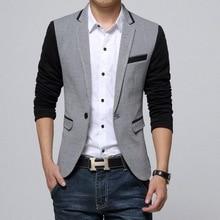 2020 neue VXO Männer Blazer Baumwolle Dünner Blazer Masculino Männlichen Anzüge Jacke Blazer Patchwork Anzüge Für Männer Blazer Business Jacke