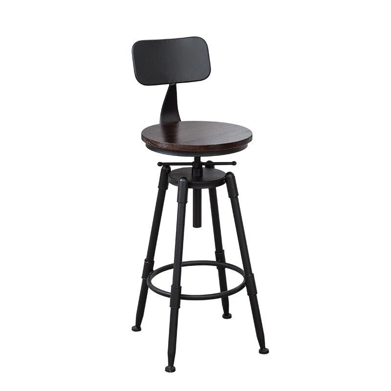 Bar Chair Modern Simple Back Iron Art Rotating   Lift Home   High Stool
