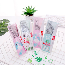 18 sets Transparent Simple Style Plastic Ruler Escolar Student Office Learn Stationery Drawing School Supplies