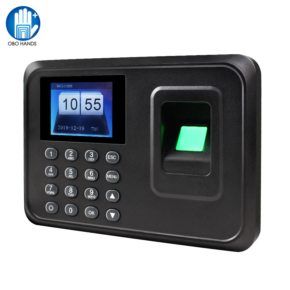 Biometric Fingerprint Time Attendance Machine Employee Check-in Time Clock Recorder Device Lock System Free Software A6 2.4 Inch