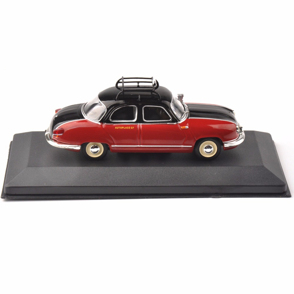 1/43 <font><b>IXO</b></font> Diecast Red Taxi Model Panhard Dyna Z (Paris ,1953) Vehicle Car Toy Collection Xmas Gift image
