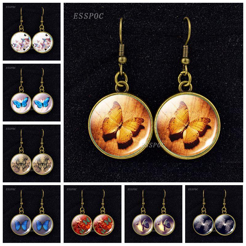 Women Hook Dangle Drop Earrings Pendant Eardrop Jewelry Weave Heart