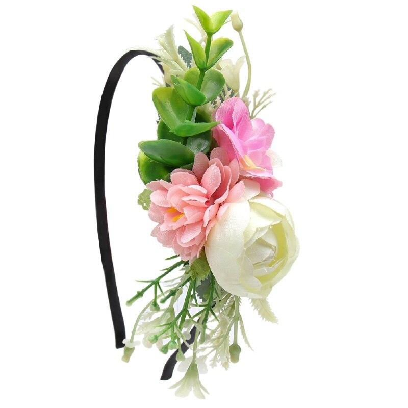 Girls Headmade Flower Headband DIY Hairband For Kid Hair Hoop Headdress Hair Accessories Princess Photography Props in Hair Accessories from Mother Kids