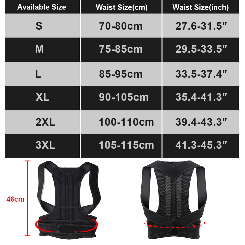 Adjustable and Comfortable Posture Corrector Belt Helps to Correct Wrong Body Posture of Back and Shoulders 5