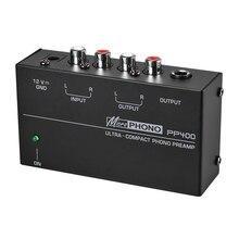 Ultra Compact Phono Voorversterker Voorversterker Met Rca 1/4Inch Trs Interfaces Preamplificador Phono Voorversterker (Eu Plug)