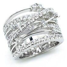Женское кольцо из сплава с цирконием крест стразы аксессуары