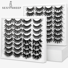 SEXYSHEEP 10 pares 3D Soft Faux Mink pestañas postizas Natural desordenado pestañas cruzadas pestañas de extensión ojo maquillaje herramientas