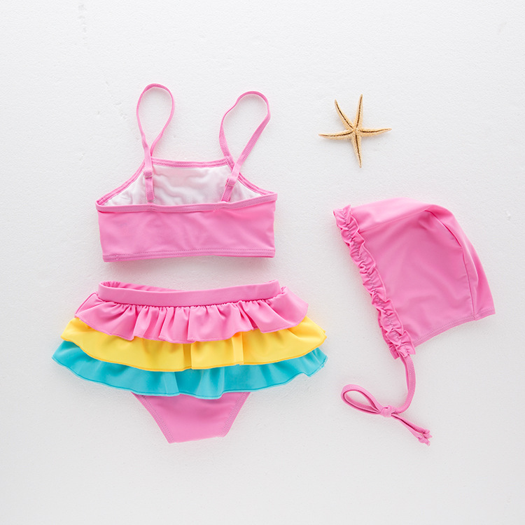 Split Type Rainbow KID'S Swimwear Hot Springs Bathing Suit