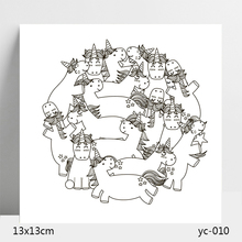 Cute unicorn Transparent Silicone Stamps/Seal for DIY Scrapbooking/Photo Album Decorative Card Making Clear Stamps Supplies