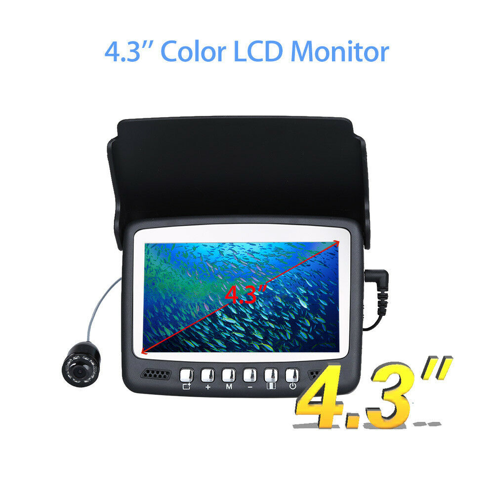 15M HD 1000TVL Fishfinder Underwater Fishing Camera 4.3 Inch Monitor For Ice Boat Fishing