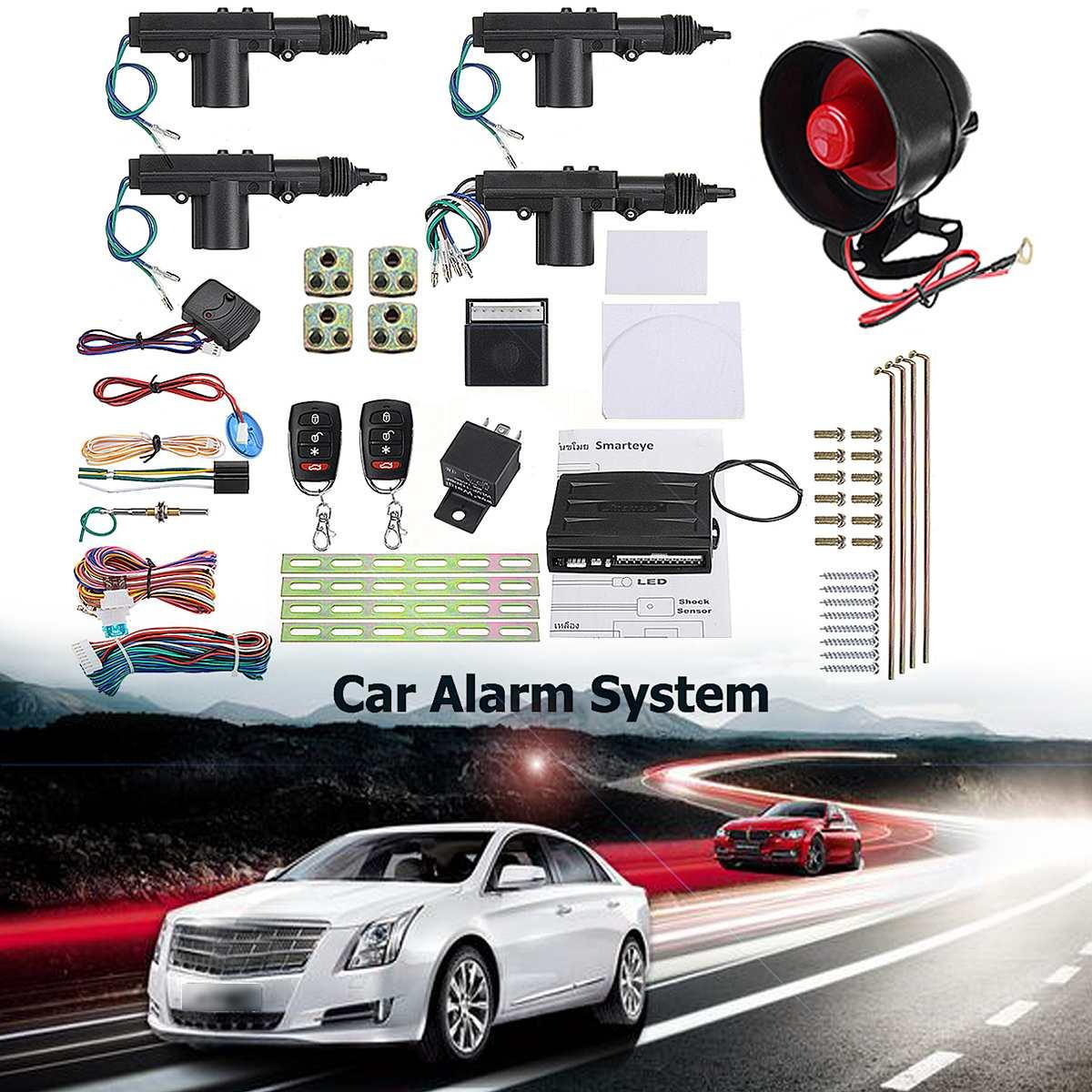 Ensemble de systèmes d'alarme voiture Auto Kit Central à distance serrure de porte verrouillage véhicule système d'entrée sans clé avec télécommandes 2/4 porte