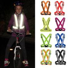 Elastic Strap High Visibility Reflective Safety Vest Unisex Outdoor Cycling Safety Vest Outdoor Clothing цена